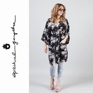 SPIRITUAL GANGSTER 'Maya' Kimono Robe Cover-Up